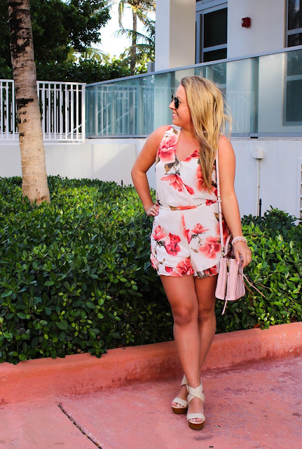 floral romper in Miami
