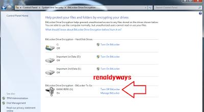 Cara Dekripsi USB Flashdisk