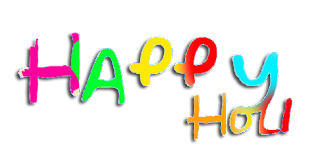happy Holi text png 2018