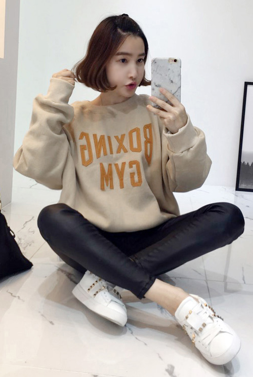 Boxing Gym Patch Oversized Sweatshirt