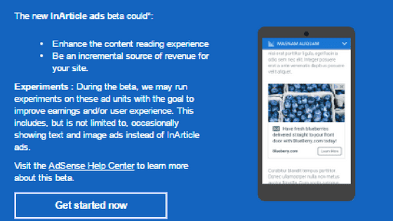 Insert AdSense Native InArticle Between All Posts In Blogger