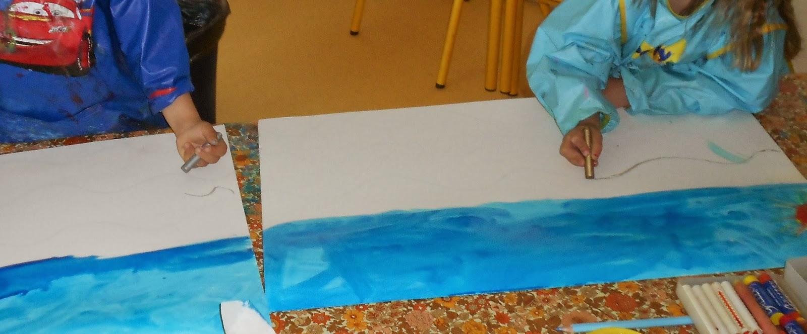 les travaux de maternelle et autres niveaux la baleine bleue cherche de l 39 eau d 39 apr s une. Black Bedroom Furniture Sets. Home Design Ideas