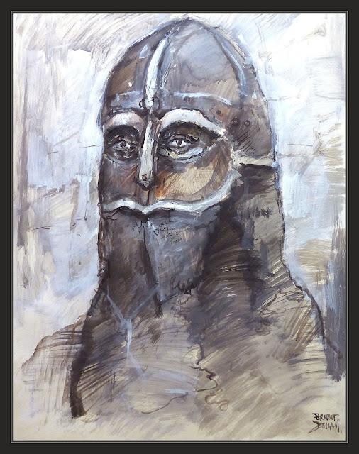 ASIRIA-PINTURA-SOLDADOS-ASIRIOS-HISTORIA-PERSONAJES-RETRATOS-ARTE-ARMADURA-PINTURAS-ARTISTA-PINTOR-ERNEST DESCALS