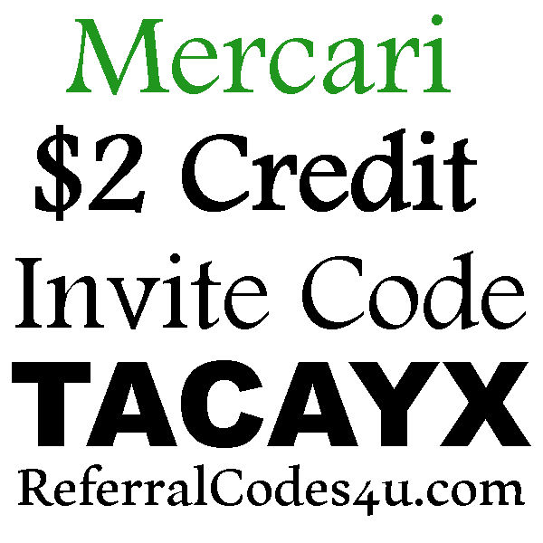 Mercari Invite Code 2016-2017, Mercari App Sign Up Code, Mercari Coupon Code June, July, August, September