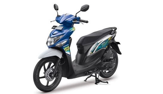 Review Honda Beat warna Biru