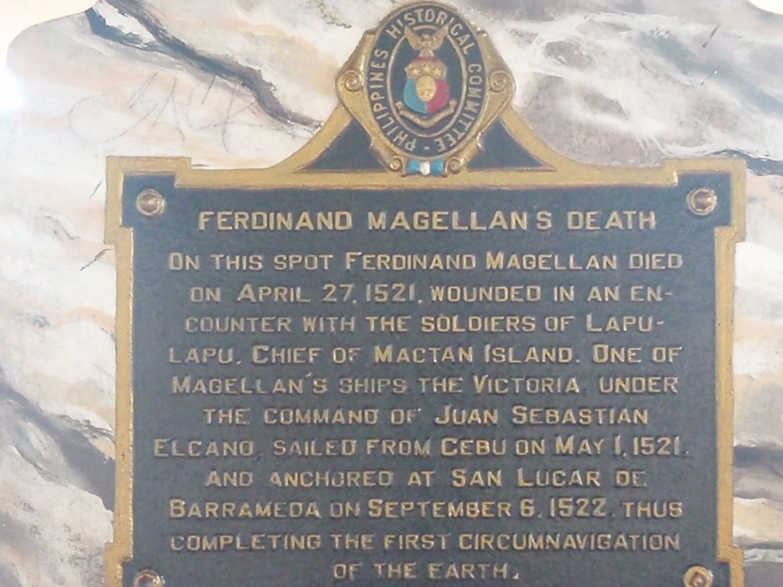 Juan Sebastián Elcano Ferdinand Magellan S Replacement: Cebu's Lapu-Lapu Shrine In Mactan Island