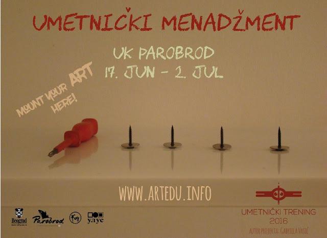 Poziv mladim vizuelnim umetnicima na kurs Umetničkog menadžmenta u Parobrodu