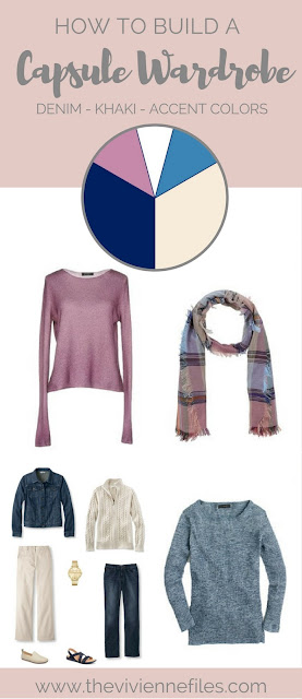 Can I Pack Denim and Khaki and still look Pretty? What about including Mauve Pink and Dark Pastel Blue Accents?