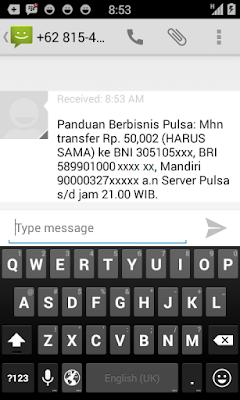 Reply balasan Tiket Deposit Pulsa