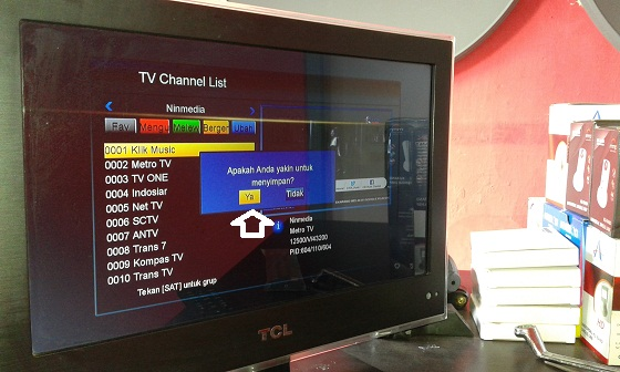 decoder oracle, cara memindahkan tv channel list