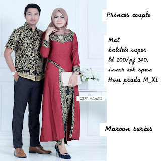 Batik Couple Longcardi Princes