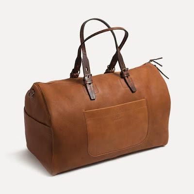 sac cuir Bleu de chauffe couleur brun - made in France