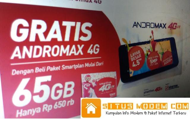 Wow Promo Beli Paket Kuota Smartfren Hingga 100 GB Bisa Dapat HP Andromax 4G LTE Gratis !!!