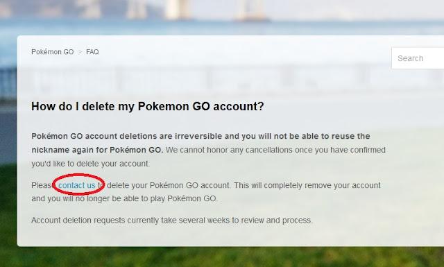 Cara Menghapus Akun Pokemon Go