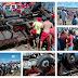 Caminhão carregado de coco perde o controle, capota e deixa dois mortos e várias pessoas feridas. Veja as fotos!
