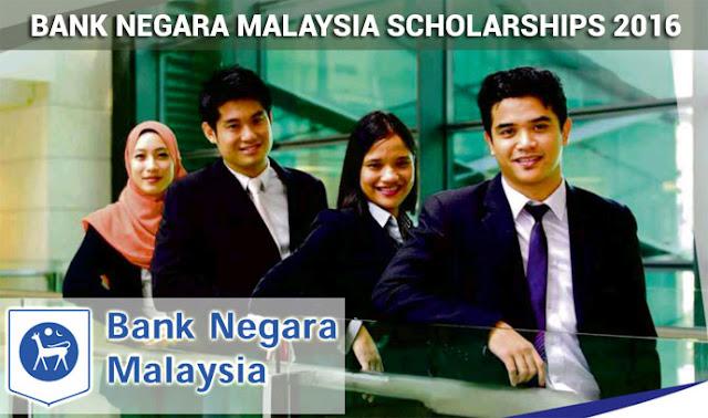 Bank Negara Malaysia Scholarship 2016 - Biasiswa Bank Negara