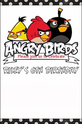 STITCH By Fay Angry Birds Party Invitations