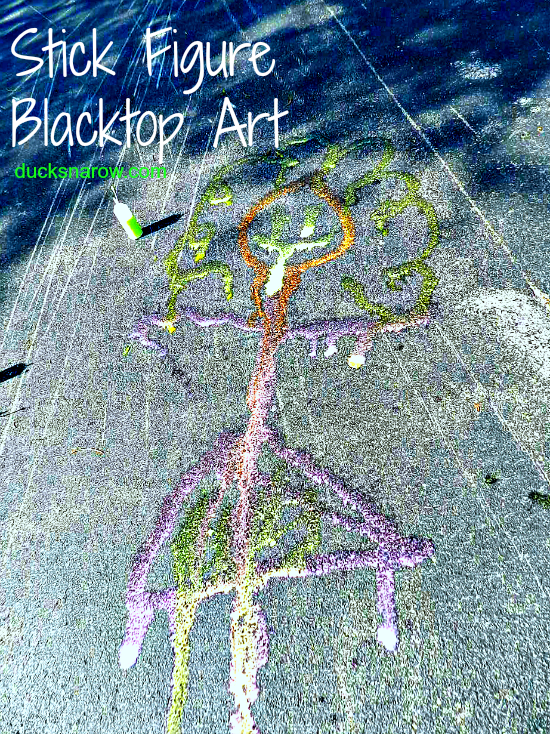 family fun, DIY, summer fun, kids, playtime, stick figure art