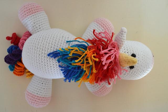 licorne arc en ciel tuto crochet tricot amigurumi