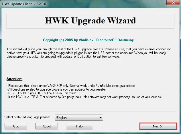 losnn hwk update client 2013