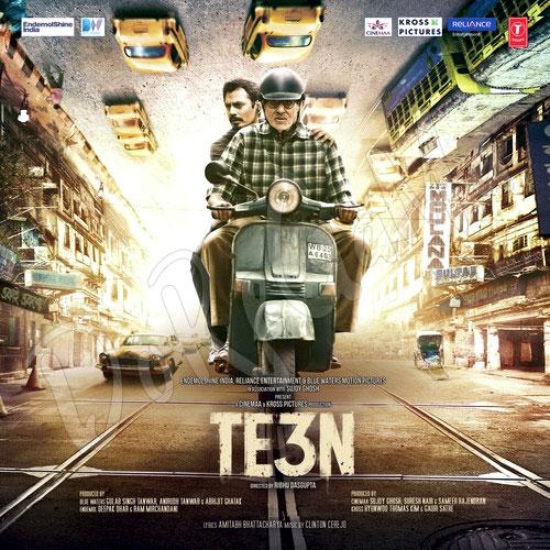 Amitabh-Bachchan-Te3n Original Cd Front cover Poster Wallpaper