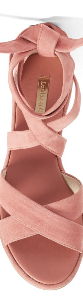 LOUISE ET CIE CLOVER SANDAL IN ROSE SUEDE