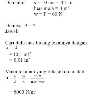 Soal Materi Tekanan Zat IPA SMP Kelas 2 Semester 2