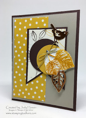 Stampin' Up! Vintage Leaves Fall Card Stamping to Share
