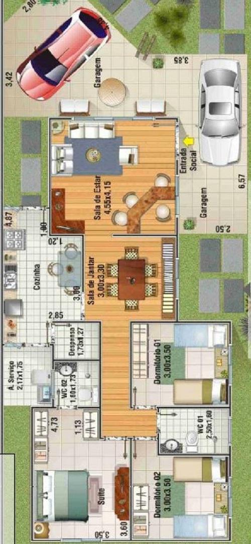 Plano de casa de 145 m2 planos de casas gratis y - Planos de casas grandes ...