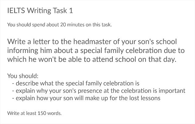 Write A Letter To The Headmaster Of Your Son'S School Informing