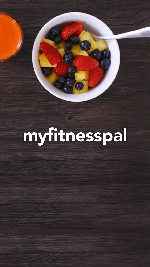 screenshot of myfitnesspal mobile app on francescasophia.co.uk