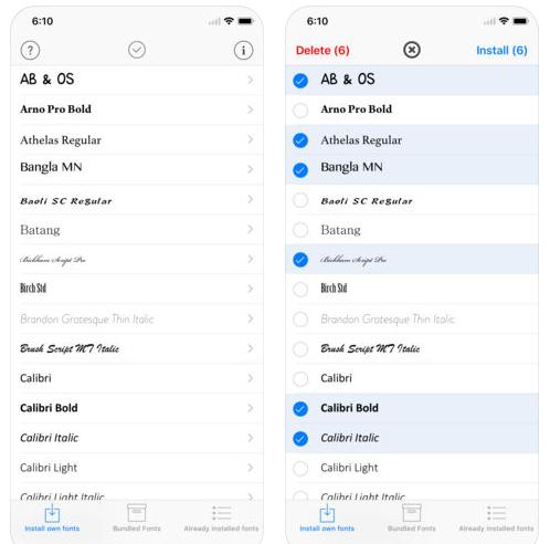 AnyFont Cara Menambah Font iPhone iPad