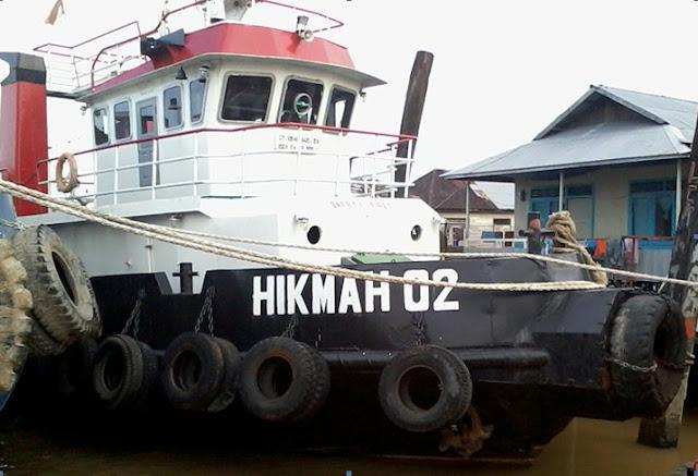 jual tug boat, jual tug boat hikmah, jual murah 1 unit tug boat, dijual tug boat mesin nissan, jual tug boat harga 2,7 milyar, jual tug boat bekas di samarinda, jual tug boat bekas mesin 600x2HP