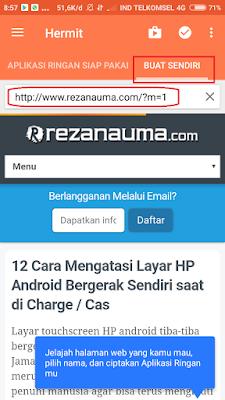 """Pilih """"Buat Sendiri"""", kemudian isi alamat website blog"""