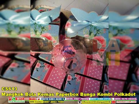 jual Mangkok Bola Kemas Paperbox Bunga Kombi Polkadot