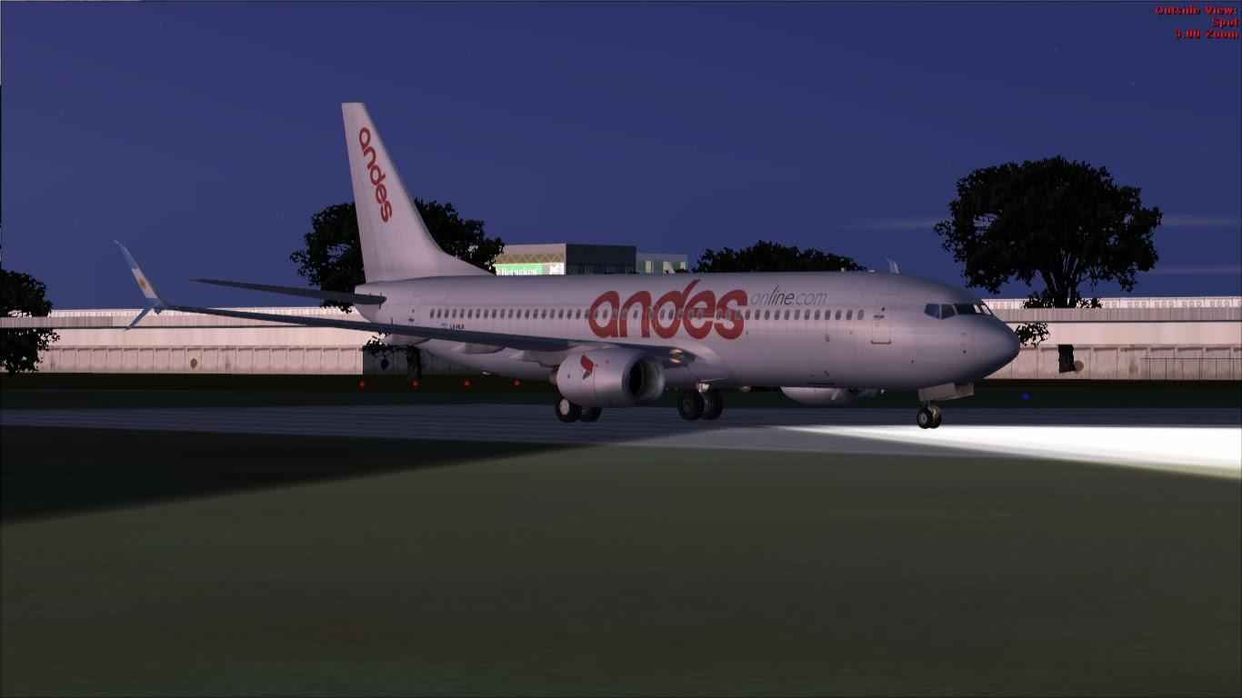 FlyRepaints : TDS- Boeing 737-800 Andes LV-HLK - Scimitar Winglets