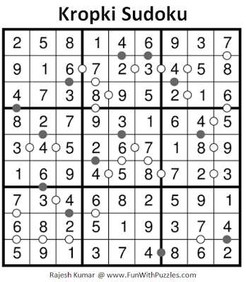 Kropki Sudoku (Fun With Sudoku #197) Solution