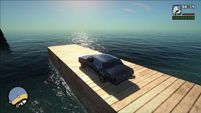 gta sa san mod gráficos hd realistas enb series ultra água water