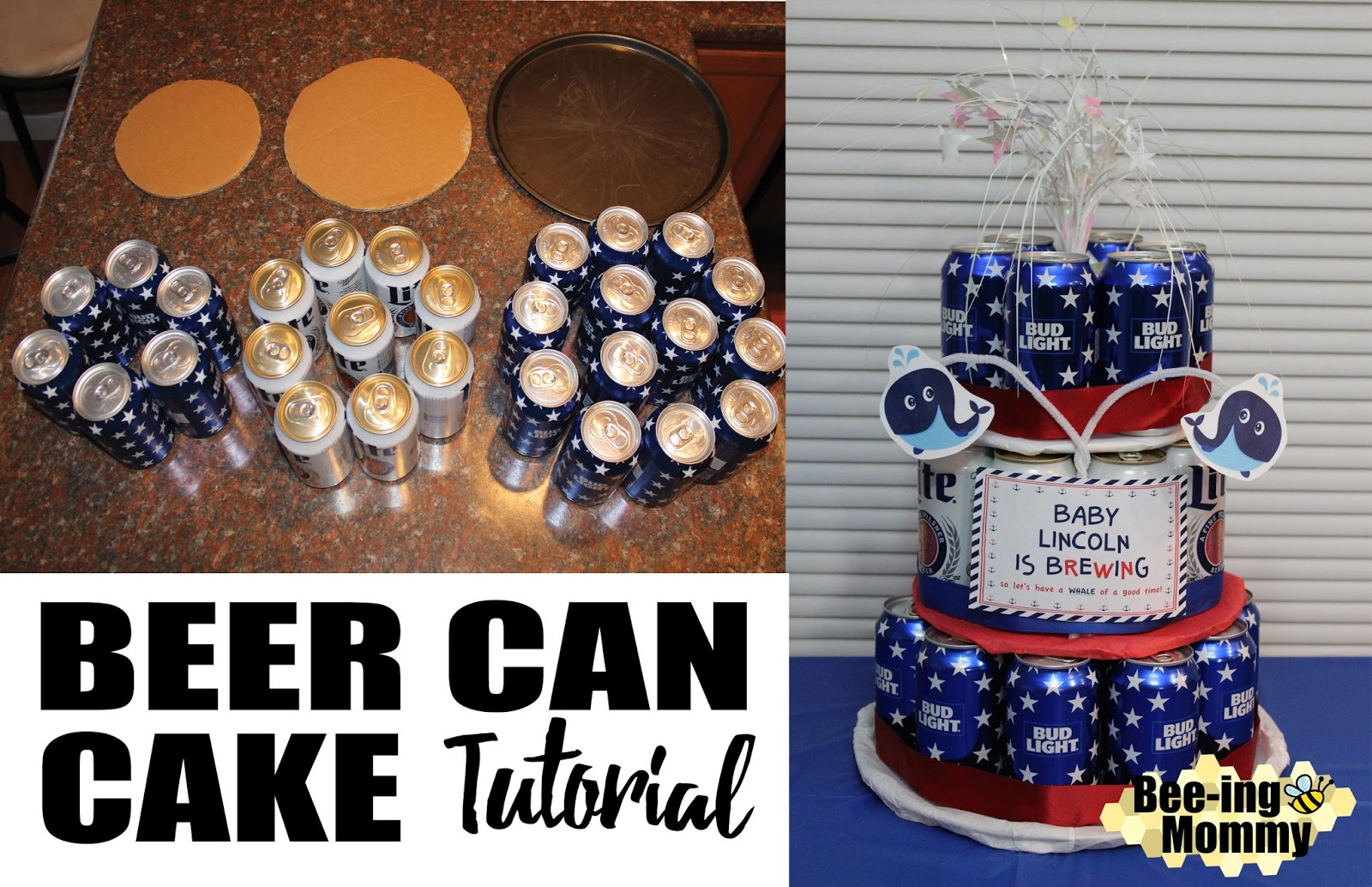 Miraculous Beer Can Cake Tutorial Personalised Birthday Cards Cominlily Jamesorg