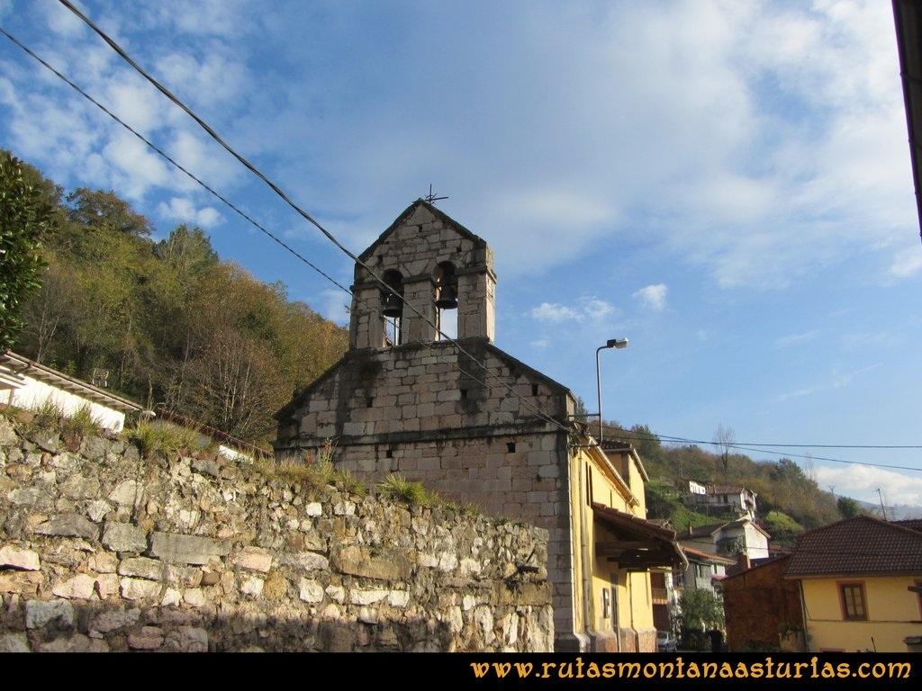 Ruta Baiña, Magarrón, Bustiello, Castiello. Iglesia