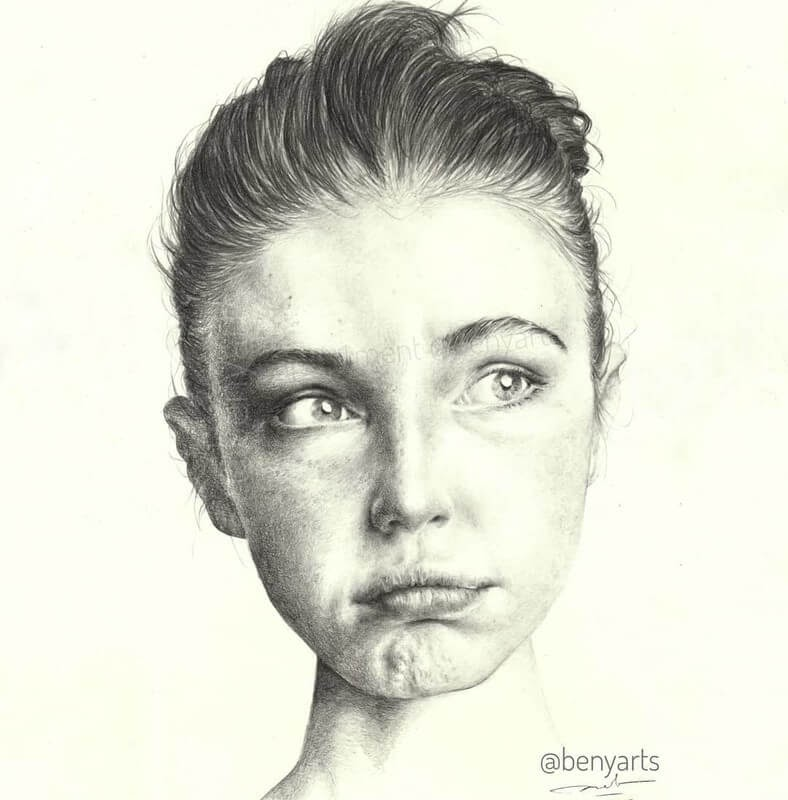 10-Benyarts-Expressions-and-Feelings-in-Graphite-Drawings
