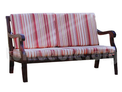 sofa 2 plazas en teca 4166