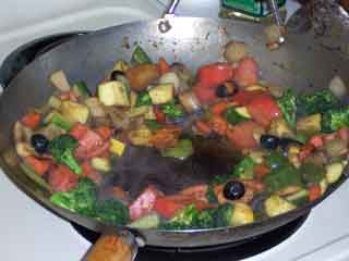 Stir Fry wok veggies