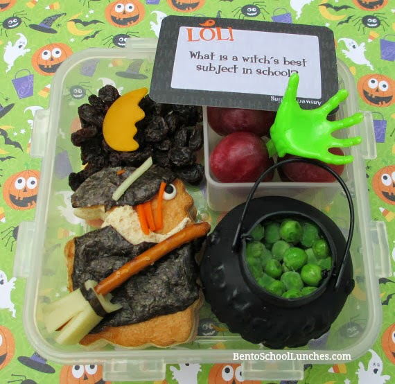 Witch On Broom Halloween Bento