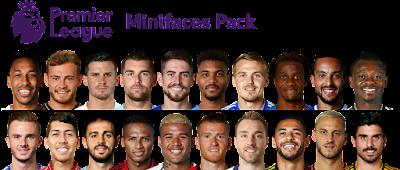 PES 2019 Minifaces Pack Complete Premier League 2018/2019 by Cesc