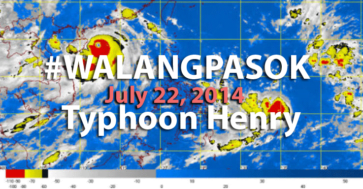 Quezon Province Classes Suspended in ALL LEVELS on July 22, 2014 due to #HenryPH #WalangPasok