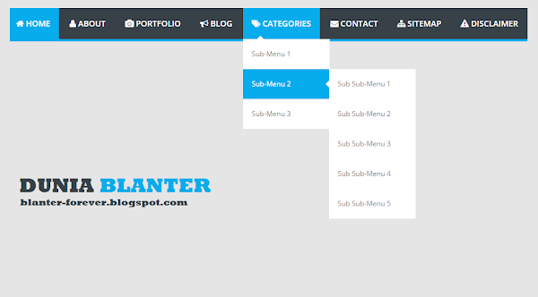 Membuat Responsive Multi Dropdown Menu di Blog