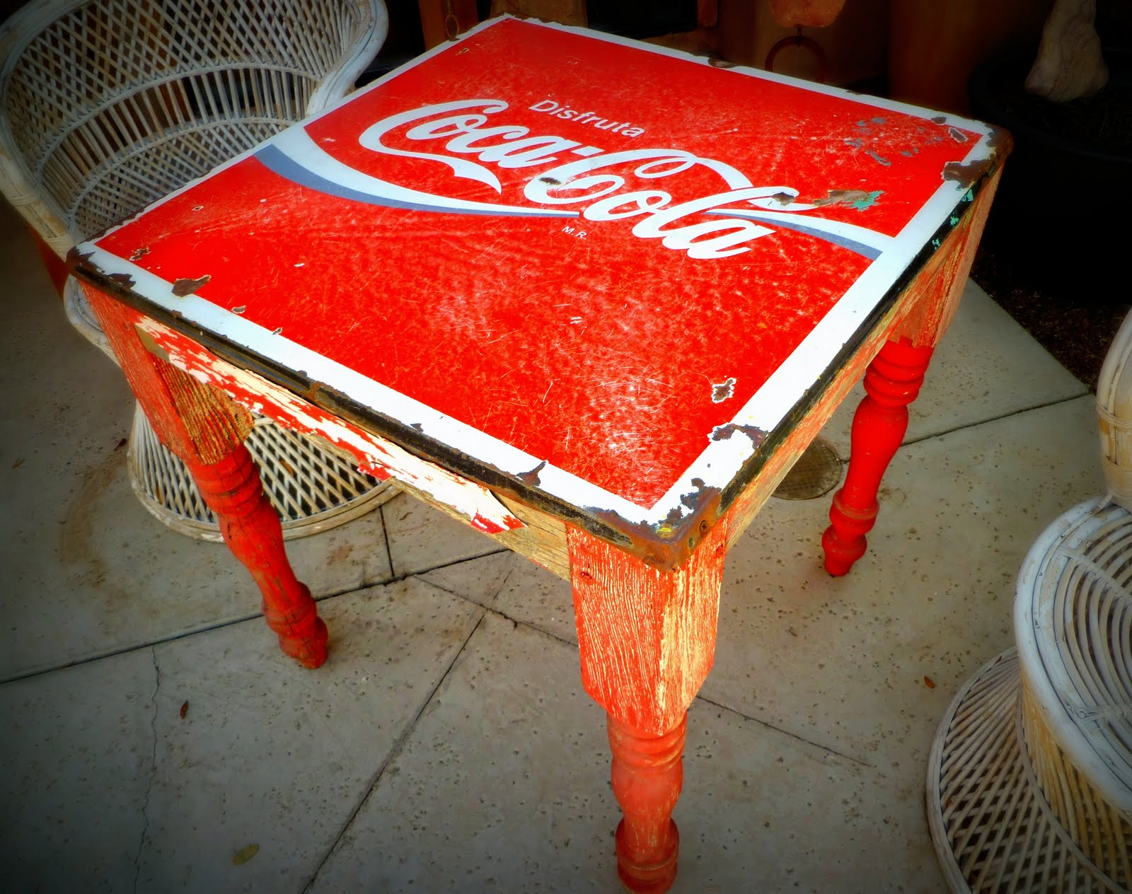 Coca Cola Table And Chairs Life 39s A Beach Tubac Funky