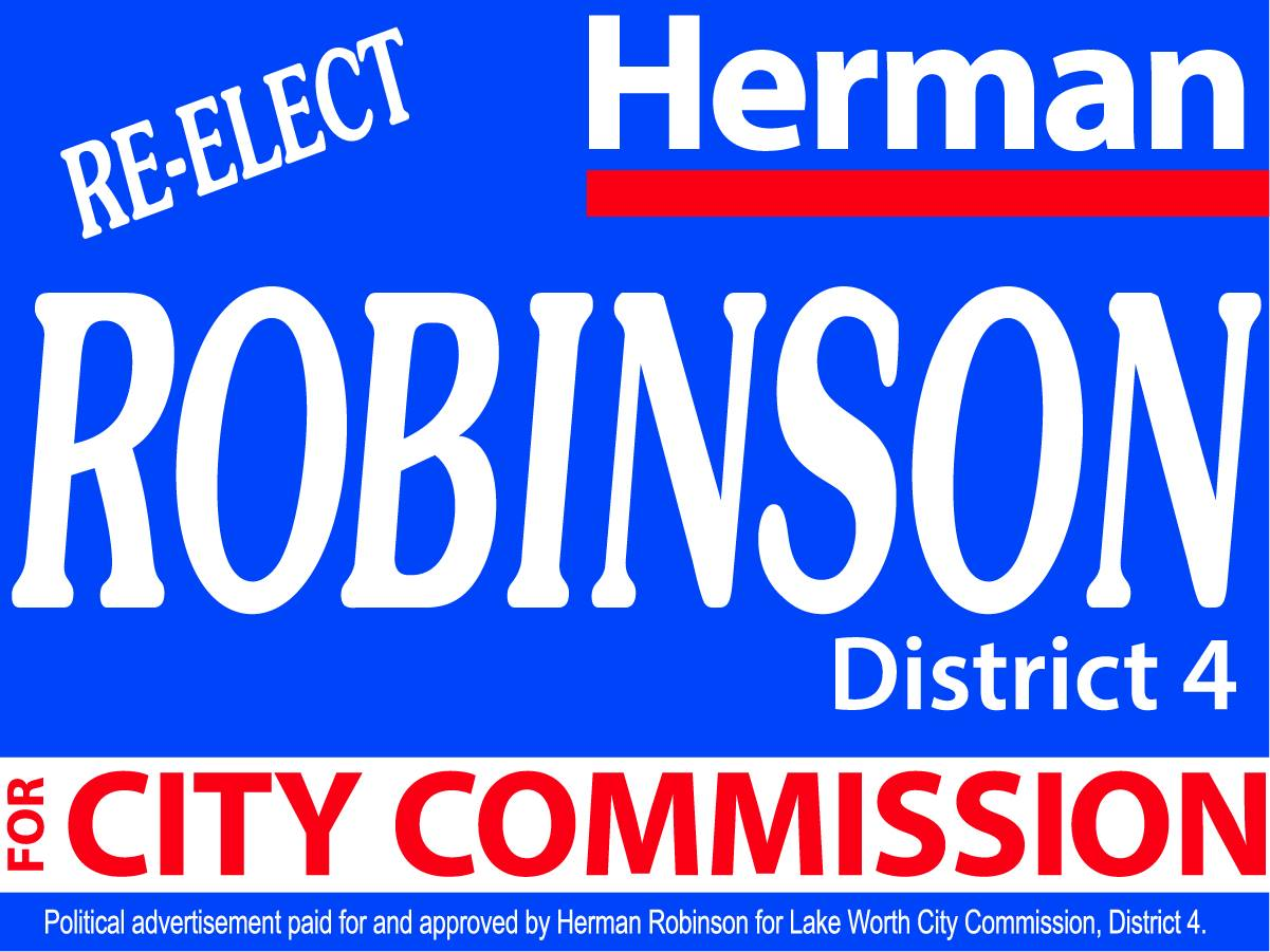 Commissioner Herman C. Robinson unopposed.