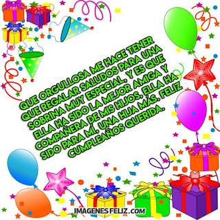 Feliz Cumpleaños Sobrina. Palabras bonitas para dedicar a una hija del corazón
